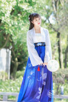 Custom made Hanfu A full set of 3 pieces, custom-made double breasted upper Ru piece, Embroidered Bra piece, custom-made two-piece waist skirt piece other female Midnight Song Hanfu studio