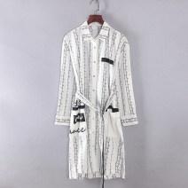 shirt Original white S,M,L Spring 2021 cotton 96% and above Long sleeves Medium length S1799B