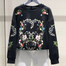 Sweater / sweater Spring 2020 Black, gray Long sleeves routine Socket singleton  routine Crew neck easy commute routine 91% (inclusive) - 95% (inclusive) O'amash banner Korean version cotton Diamond inlay, embroidery cotton