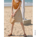 skirt Spring 2021 S, M Navy, light Khaki Short skirt commute High waist A-line skirt Solid color Type A 18-24 years old Q189 71% (inclusive) - 80% (inclusive) Huaji polyester fiber Korean version