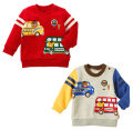 Sweater / sweater mikiumkee Grey, red neutral 80cm,90cm,100cm,110cm,120cm,130cm spring and autumn nothing solar system routine No model cotton Cartoon animation Class A