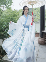 National costume / stage costume Summer of 2019 Shangru, six meter skirt, big sleeve shirt S,M,L,XL