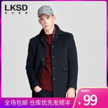 woolen coat blue 46/S 48/M 50/L 52/XL 54/XXL 56/XXXL Laxdn / Lexton Fashion City Woolen cloth Winter of 2019 have more cash than can be accounted for go to work standard Same model in shopping mall (sold online and offline) youth Double collar Single breasted Business Casual Solid color Cloth hem