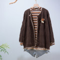 sweater Autumn 2020 Average size Grey, orange, khaki, coffee Long sleeves Cardigan singleton  Regular cotton 81% (inclusive) - 90% (inclusive) V-neck Regular commute routine Solid color Straight cylinder N4 Button cotton Single breasted