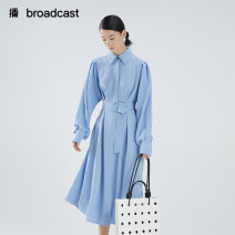 Dress Summer 2021 XS S M L XL longuette singleton  Long sleeves commute other Elastic waist Solid color other other shirt sleeve 25-29 years old Type X Broadcast / broadcast literature Asymmetry More than 95% Chiffon polyester fiber Polyester 100% Same model in shopping mall (sold online and offline)