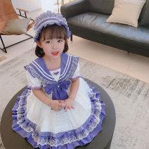 Dress violet female Other / other 90cm,100cm,110cm,120cm,130cm Other 100% summer Lolita Short sleeve other other Cake skirt Class B 2 years old, 3 years old, 4 years old, 5 years old, 6 years old, 7 years old, 8 years old Chinese Mainland Zhejiang Province Huzhou City