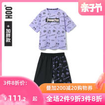 suit Hoo 140cm 150cm 160cm 170cm 180cm male summer fashion Short sleeve + pants 2 pieces routine No model Socket nothing Cartoon animation other children Shopping Class B Other 100% Summer 2021 Chinese Mainland Fujian Province Quanzhou City