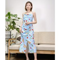 Dress Summer 2020 XS,S,M Mid length dress singleton  Sleeveless Sweet Crew neck Decor Socket other camisole 25-29 years old Type H Muyao More than 95% other other