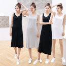 Dress Summer 2021 White regular, light gray regular, black regular, white medium long, light gray medium long, black medium long, white extended, light gray extended, black extended M is suitable for 80-110kg, l is suitable for 110-130kg, XL is suitable for 130-150kg longuette singleton  Sleeveless