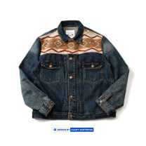 Jacket Other / other Youth fashion navy blue M,L,XL routine standard Other leisure autumn Cotton 100% Long sleeves Wear out Lapel tide youth routine Single breasted 2020 Cloth hem washing Closing sleeve Denim Cloth decoration (covering other fabrics) Cover patch bag cotton More than 95%