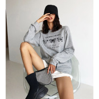 Sweater / sweater Autumn 2020 Light gray, white, purple, black S, M Long sleeves routine Socket singleton  routine Crew neck easy commute Bat sleeve letter 18-24 years old 51% (inclusive) - 70% (inclusive) Korean version cotton printing cotton