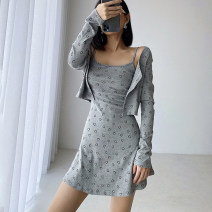 Fashion suit Summer 2021 S, M Black, light grey 18-25 years old 91% (inclusive) - 95% (inclusive) cotton
