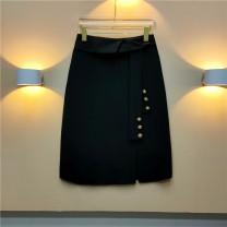 skirt Spring 2021 M,L,XL,2XL White, black, beige, coffee