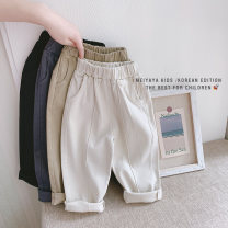 trousers Meiyaya neutral Tag 100 / recommended height 90cm, tag 110 / recommended height 100cm, tag 120 / recommended height 110cm, tag 130 / recommended height 120cm, tag 140 / recommended height 130cm Off white, khaki, black, bluish grey spring and autumn trousers Korean version No model KD25