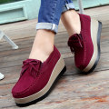 Low top shoes 35,36,37,38,39,40,41 Round head Cattle suede (frosted) Slope heel High heel (5-8cm) Midmouth Superfine fiber Spring 2020 Trochanter leisure time Sewing shoes Youth (18-40 years old), middle age (40-60 years old) Solid color polyurethane Single shoes Microfiber skin daily Frosting 0.6KG