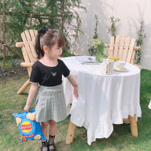 T-shirt White, black Other / other 90cm,100cm,110cm,120cm,130cm female summer Korean version There are models in the real shooting nothing Cotton blended fabric Leopard Print Class B 7 years old, 8 years old, 3 years old, 6 years old, 18 months old, 2 years old, 5 years old, 4 years old Huzhou City