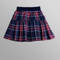 skirt Summer 2020 White, Navy, blue, red and Black Plaid, Navy pleated skirt, Navy Red and white stripe, Navy red stripe, navy blue stripe Short skirt Versatile Pleated skirt lattice 18-24 years old Q55DH Chiffon Other / other