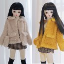 BJD doll zone suit 1/4 Over 3 years old goods in stock Yellow coat, beige coat, bag (the same color as coat), black stockings, high collar with inside, A-line skirt, yellow coat + inside + skirt + bag + socks, rice coat + inside + skirt + bag + socks Four points
