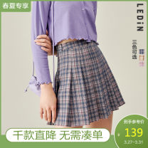 skirt Summer 2020 S M L Blue check, yellow check, pink check Short skirt Sweet High waist Pleated skirt 18-24 years old CWGEA2C06 71% (inclusive) - 80% (inclusive) Leting polyester fiber Polyester fiber 71.6% viscose fiber (viscose fiber) 21.9% polyurethane elastic fiber (spandex) 6.5% solar system