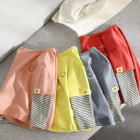 T-shirt Other / other neutral spring and autumn Long sleeves Crew neck leisure time No model nothing cotton stripe Cotton 95% polyurethane elastic fiber (spandex) 5% 2, 3, 4, 5, 6, 7, 8, 9, 10, 11, 12, 13, 14 years old Chinese Mainland Shandong Province