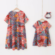 Dress Red Spot Other / other female Mother's f size order 100cm logo 110 90cm logo 100 110cm logo 120 130cm logo 140 120cm logo 130 Other 100% summer Korean version Short sleeve other cotton Irregular