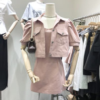 Fashion suit Summer 2021 S, M Black, blue, pink, beige 18-25 years old DD56656FF 30% and below
