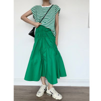 skirt Summer 2020 S, M Mid length dress gorgeous Natural waist Irregular Solid color Type A 25-29 years old 71% (inclusive) - 80% (inclusive) other other