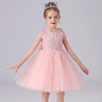 Children's dress White, shrimp powder, pink, champagne, light blue female 110cm,120cm,130cm,140cm,150cm Other / other full dress Class B other Other 100% 14, 3, 5, 9, 12, 7, 8, 3 months, 6, 2, 13, 11, 10, 4 princess