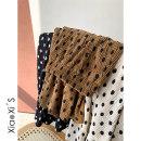 skirt Winter 2020 Average size Off white, black, brown Mid length dress commute Natural waist A-line skirt Dot Type A More than 95% other polyester fiber Korean version