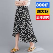 skirt Summer 2020 5XL,2XL,4XL,3XL Daisy Mid length dress commute High waist A-line skirt other 18-24 years old 5sz other printing