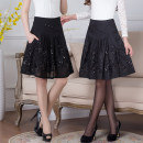 skirt Autumn 2020 Waist 2'0, waist 2'1, waist 2'2, waist 2'3, waist 2'4, waist 2'5, waist 2'6, waist 2'7, waist 2'8 6617 spring and autumn thin, 6617 autumn and winter woolen, 6617 summer chiffon Middle-skirt Versatile High waist A-line skirt Big flower Type A 40-49 years old other Other / other