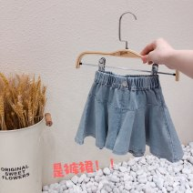 skirt 90cm,100cm,110cm,120cm,130cm blue Other / other female Cotton 100% spring and autumn leisure time cotton