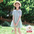 Dress female Tagkita / she and others 110cm,120cm,130cm,140cm,150cm,160cm,170cm Cotton 95% other 5% summer Short sleeve cotton A-line skirt Class B Five, six, seven, eight, nine, ten, eleven, twelve, thirteen, fourteen