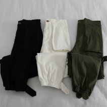Casual pants Off white, black, army green M, L Summer 2020 Ninth pants Haren pants High waist commute Thin money 18-24 years old 31% (inclusive) - 50% (inclusive) Cotton blended fabric Korean version Three dimensional cutting