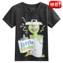 T-shirt jumping beans male summer Short sleeve Crew neck Europe and America There are models in the real shooting nothing Pure cotton (100% cotton content) Cartoon animation Cotton 100% Class B Sweat absorption 18 months, 2 years, 3 years