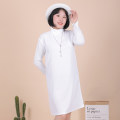 Women's large Winter 2020 Black, white, red, beige 3XL [recommended 130-150 kg], 4XL [recommended 150-170 kg], 5XL [recommended 170-195 kg], 6xl [recommended 195-220 kg] Dress singleton  Sweet Self cultivation moderate Socket Long sleeves Solid color Pile collar other routine Medium length