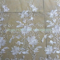 Fabric Green, champagne, off white Clothing fabric other Europe and America