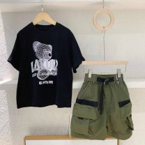 trousers Three bears Castle neutral Five, seven, nine, eleven, thirteen, fifteen, seventeen, nineteen Green (spot) summer shorts leisure time No model Casual pants Leather belt middle-waisted other Don't open the crotch Cotton 95% other 5% 14, 13, 12, 11, 10, 9, 8, 7, 6, 5