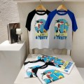 T-shirt Blue sleeves (reserved), black sleeves (reserved) Three bears Castle Five, seven, nine, eleven, thirteen, fifteen, seventeen, nineteen neutral other other Cotton 95% other 5% 2, 3, 4, 5, 6, 7, 8, 9, 10 years old