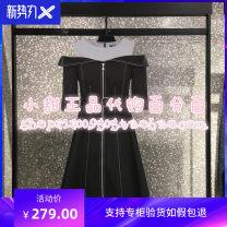 Dress Autumn 2020 Black_ Denim Black Denim Middle-skirt singleton  Short sleeve street other High waist other other A-line skirt other Others 25-29 years old Type X Vero Moda 71% (inclusive) - 80% (inclusive) other cotton Sports & Leisure