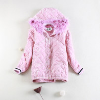 short coat Winter 2016 Xs, s, m, XS stains Khaki. Pink. Blue Long sleeves routine thickening singleton  Straight cylinder routine Hood Single breasted 18-24 years old 81% (inclusive) - 90% (inclusive)