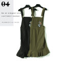 Dress Summer 2020 Black, army green XS,S,M,L,XL Mid length dress singleton  Sleeveless commute 18-24 years old Other / other Korean version