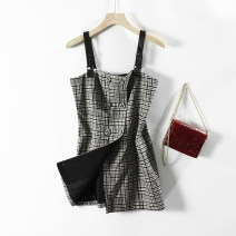 Dress Autumn 2020 Black and white S,M,L commute 25-29 years old Other / other Retro L4791