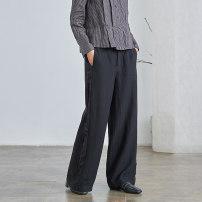 Casual pants black XS S M L XL Spring 2021 trousers Straight pants Natural waist original routine K2354 Q.TU hemp pocket cotton Flax 54% others 46% Pure e-commerce (online only)