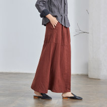 skirt Spring 2021 XS S M L XL Xiuhong longuette commute Natural waist A-line skirt Solid color Type A 25-29 years old Q2751 More than 95% Q.TU hemp pocket literature Flax 100% Pure e-commerce (online only)