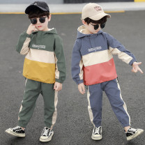 Plain coat Tagkita / she and others male 110cm,120cm,130cm,140cm,150cm,160cm Gray, green, blue, light green spring and autumn leisure time Socket There are models in the real shooting routine No detachable cap other other other Other 100% Class B