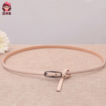 Belt / belt / chain pigskin White, green, black, coffee, camel, leather powder, scarlet, pink, navy blue, nude, [2 only 36 yuan] directly shoot the color you like, [3 only 49 yuan] the system will automatically change the price female belt Versatile Single loop Children, youth, youth, middle age 1cm