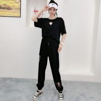 Casual pants Summer 2020 shorts Wide leg pants Natural waist commute Thin 25-29 years old 96% and above other cotton Asymmetry 3XL (for 120-150 kg), 4XL (for 150-170 kg), 5XL (for 170-190 kg), 6xl (for 190-210 kg)