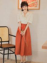 Fashion suit Summer 2021 S,M,L,XL Top + skirt