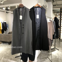 Vest Autumn of 2018 Grey black apricot Average size have more cash than can be accounted for tailored collar commute Solid color Single breasted
